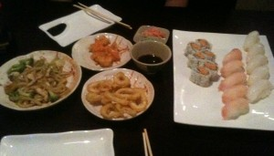 Our first order of Sushi at Orchid